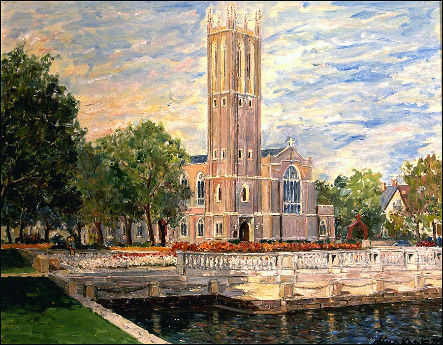 Church Painting - Beautiful Church Of Norfolk Va by Dino Kunic