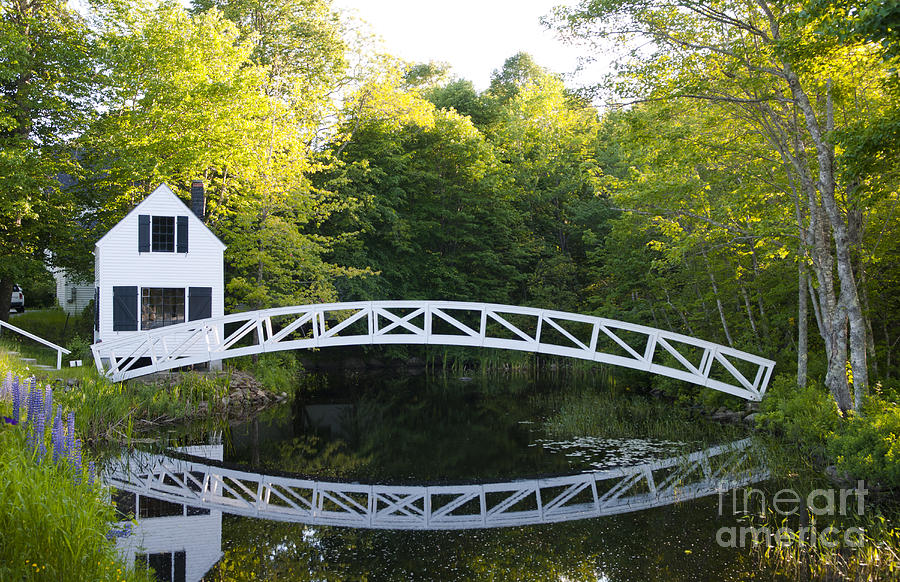 Beautiful Photograph - Beautiful Curved Bridge In Somesville by Bill Bachmann
