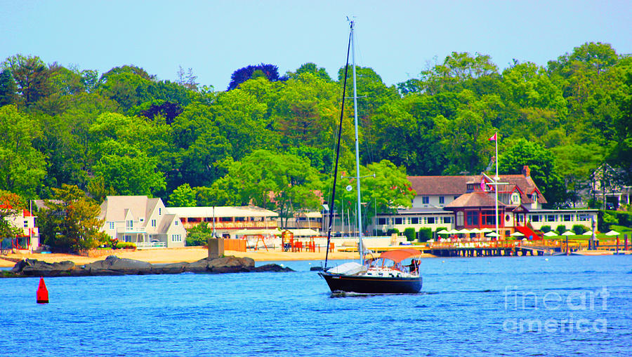 Sailboat Photograph - Beautiful Day For Sailing by Judy Palkimas