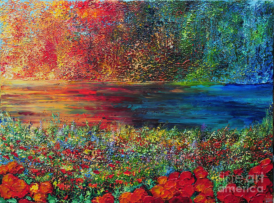 Abstract Painting - Beautiful Day by Teresa Wegrzyn