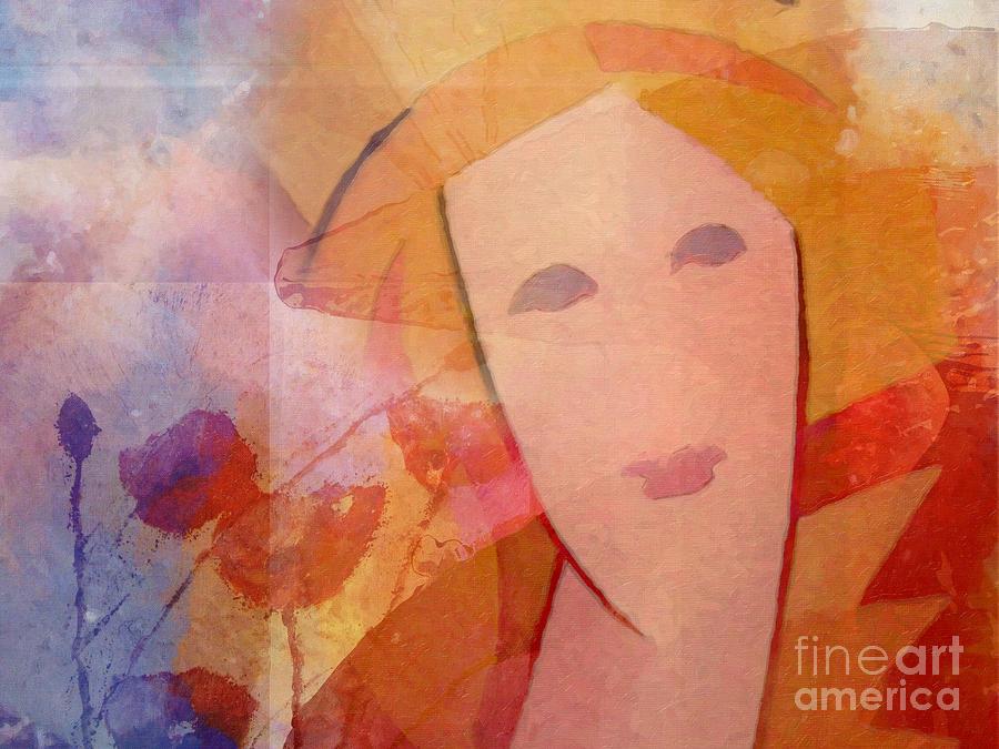 Portrait Painting - Beautiful Dream by Lutz Baar