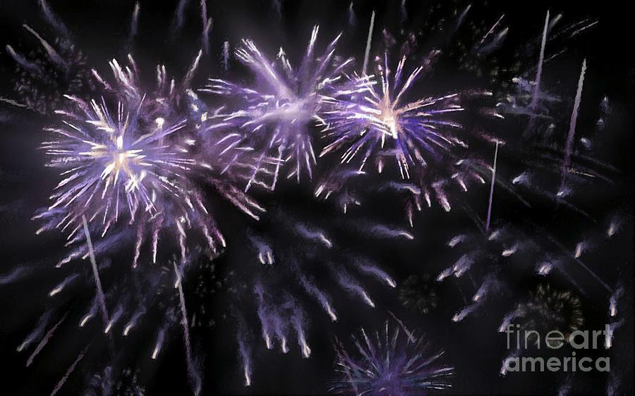 Firework Painting - Beautiful Fireworks 7 by Jeelan Clark