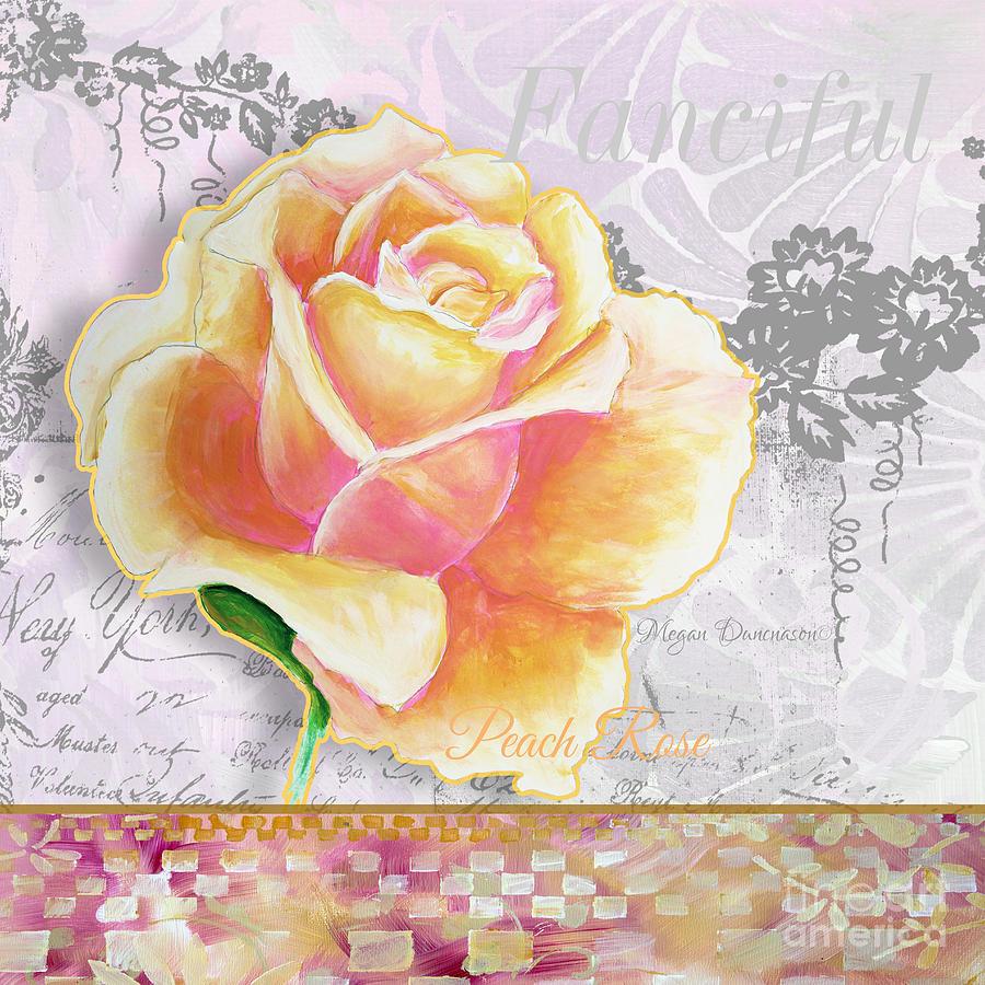 Beautiful floral peach rose original flower painting by megan rose painting beautiful floral peach rose original flower painting by megan duncanson by megan duncanson izmirmasajfo
