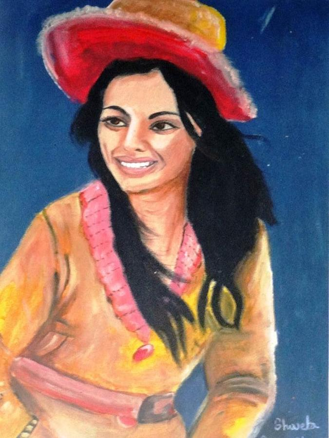 Girl Painting - Beautiful Girl by Aap  Business
