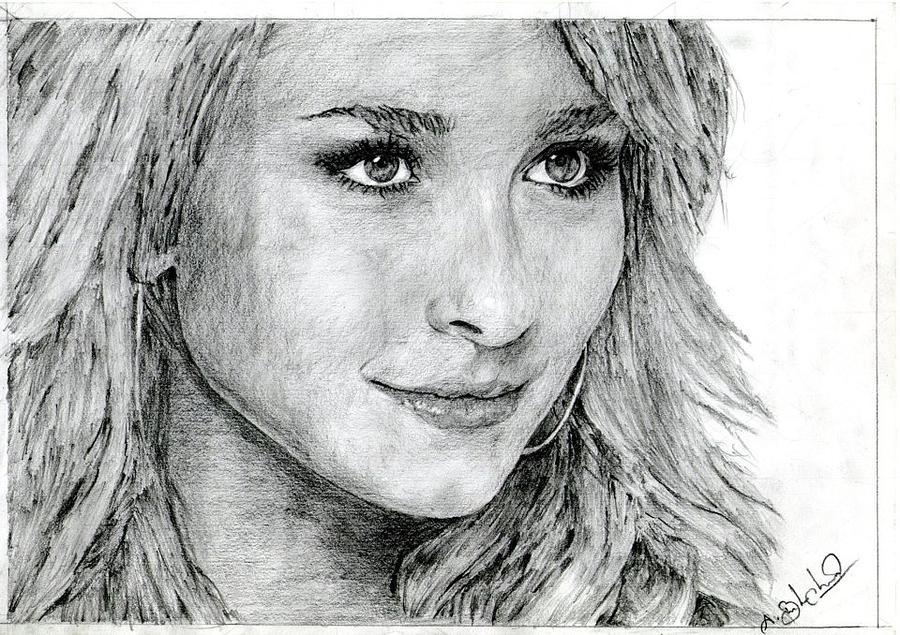 Beautiful drawing beautiful girl by balachandar asokan