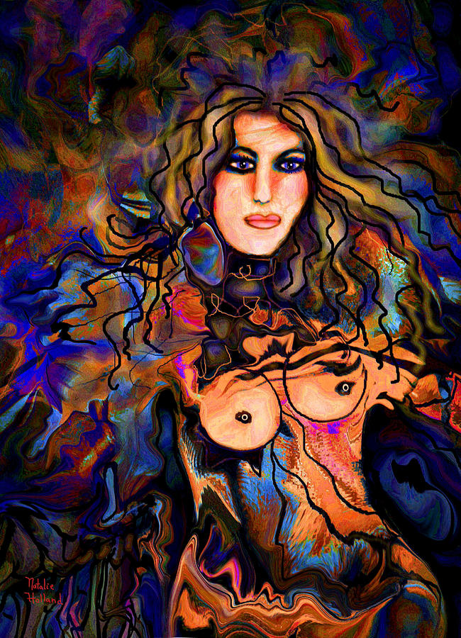Nude Mixed Media - Beautiful Goddess by Natalie Holland
