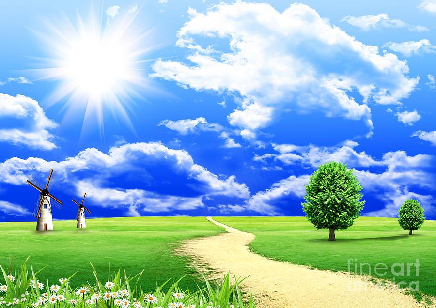 Beautiful Photograph - Beautiful Green Field by Boon Mee