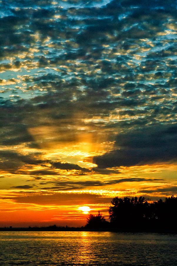 Florida Photograph - Beautiful Gulf Of Mexico Sunset by Louis Dallara