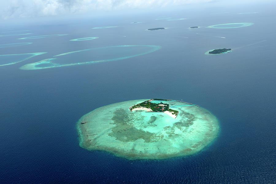 Beautiful Islands Seen From An Aircraft Photograph by Wolfgang steiner