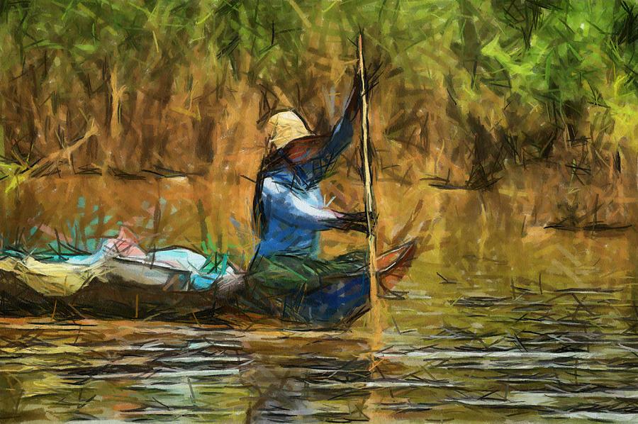 Beautiful Lady Painting by Teara Na