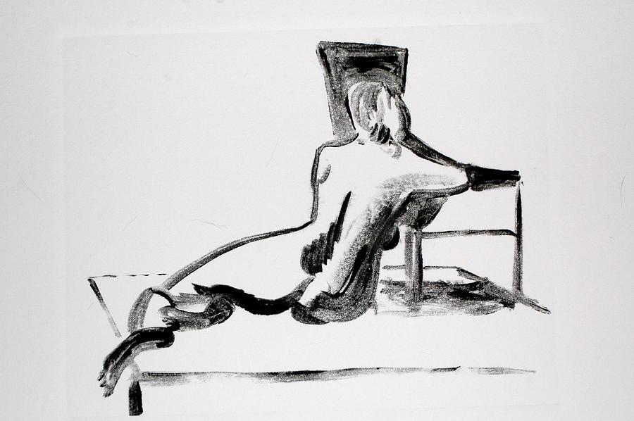 Nude Painting - Beautiful Lady by Valerie Lynch