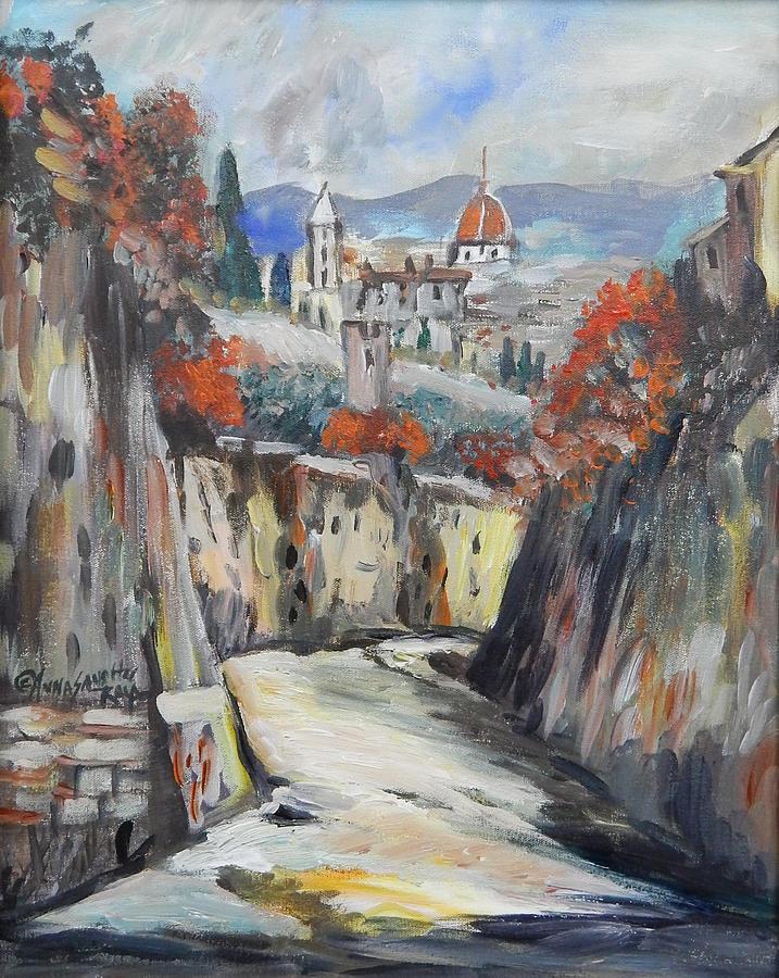 Milan Painting - Beautiful Milan  by Anna Sandhu Ray
