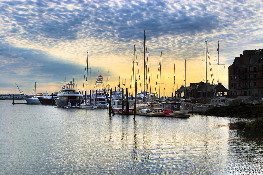 Boston Harbor Photograph - Beautiful Morning On Boston Waterfront by Mark E Tisdale