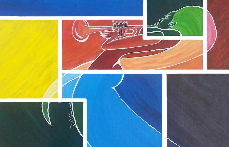 Acrylic Prints Painting - Beautiful Music by Donald Lyons