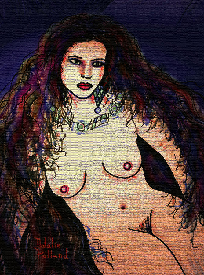 Nude Mixed Media - Beautiful by Natalie Holland