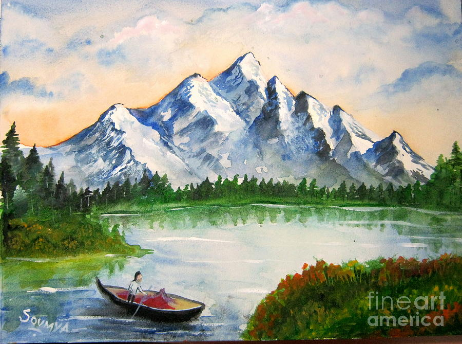Beautiful nature painting by soumya suguna for Beautiful drawings and paintings