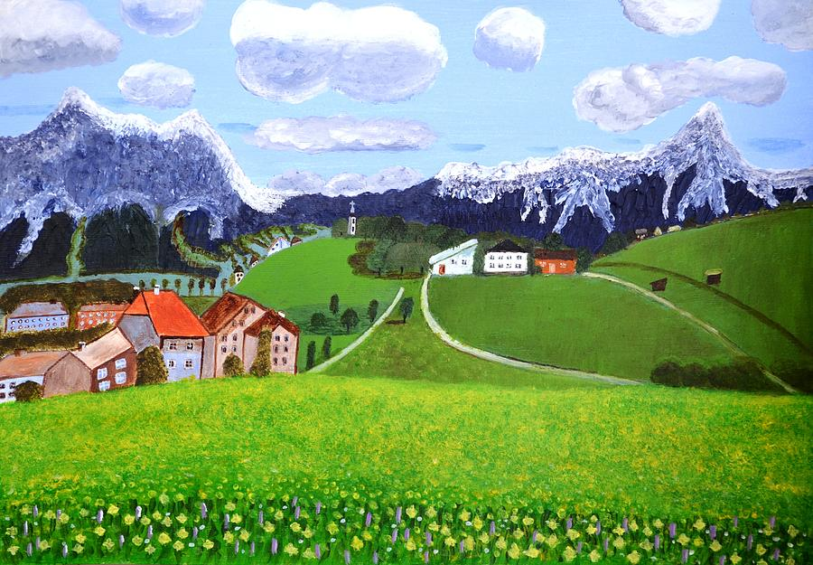 Beautiful Norway Painting By Magdalena Frohnsdorff