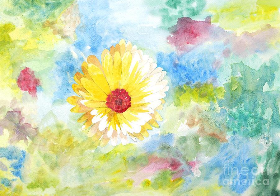 7db3cd46d Artist Painting - Beautiful Painting Of Beautiful Calendula Flower by  Ipshita Singh