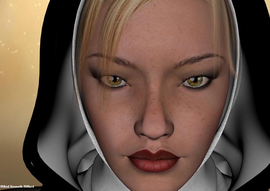 Woman Digital Art - Beautiful Purity by Aeabia A