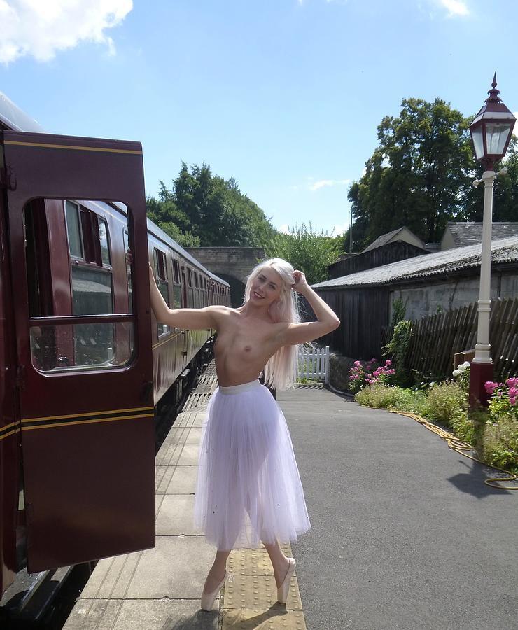 Beautiful Railway Girl Photograph