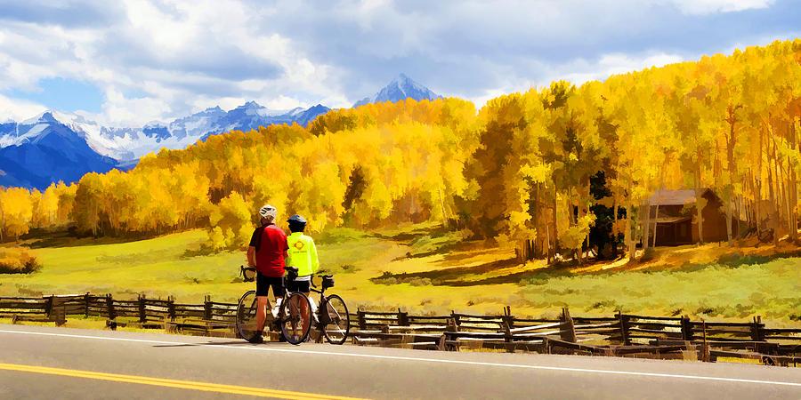 Bike Digital Art - Beautiful Rest Stop by Rick Wicker