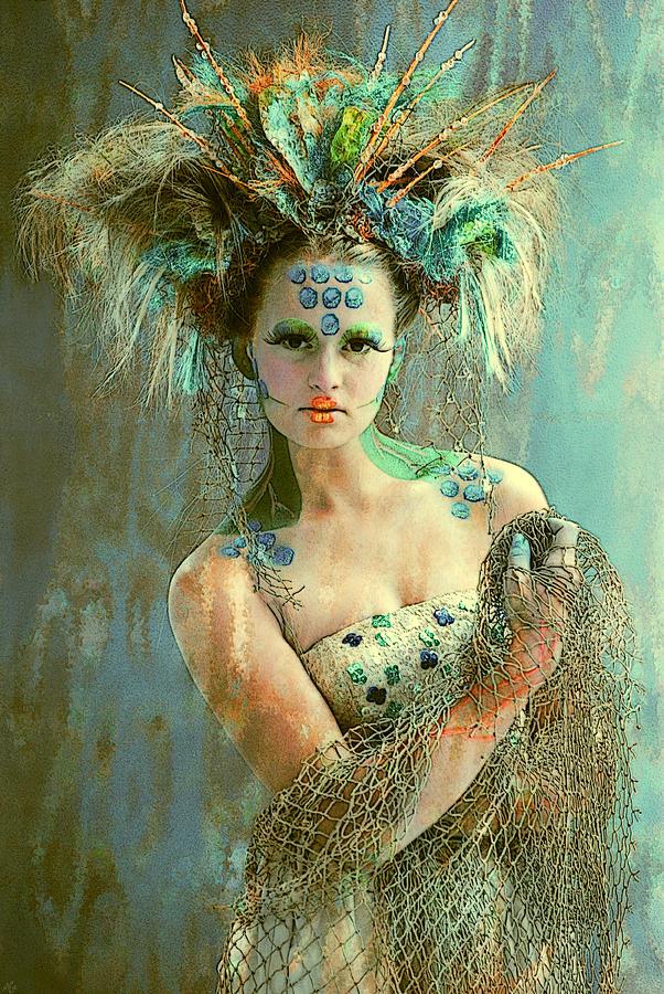 Digital Photograph Manipulation Photograph - Beautiful Sea Urchin by Maynard Ellis