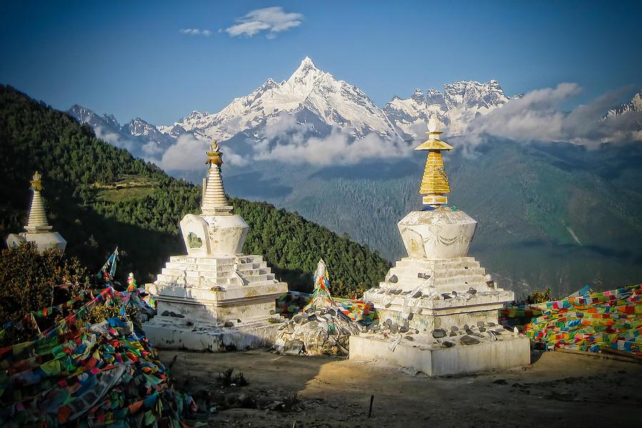 Asia Photograph - Beautiful Snow Mountain - Meili Xue Shan by James Wheeler