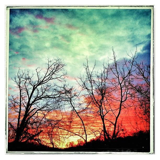 Beautiful Photograph - Beautiful Sunrise On The Last Day Of by Teresa Mucha