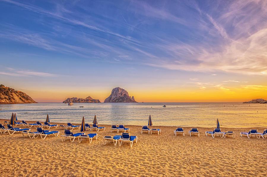 Beautiful Sunset Beach At Cala D´hort On Ibiza Photograph by Juergen Sack