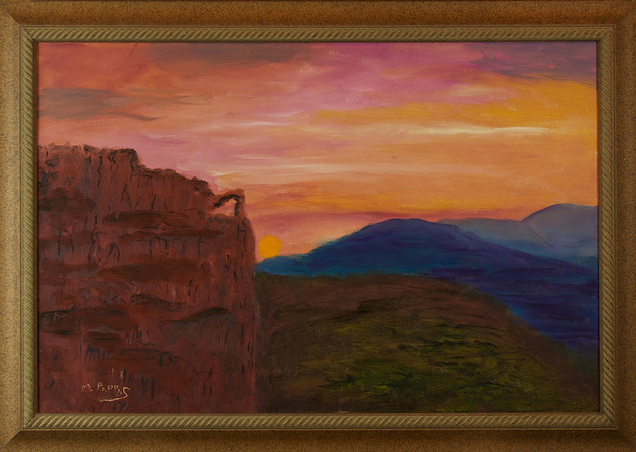 Beautiful Sunset Painting by Margaret Pappas