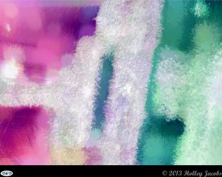 Abstract Digital Art - Beautiful Teal by Holley Jacobs