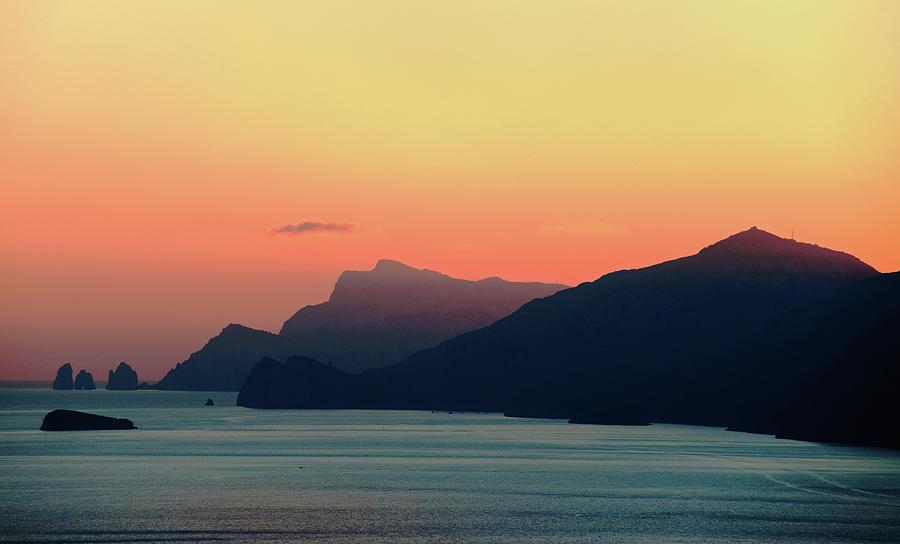 Beautiful View Of The Amalfi Coast, At Photograph by Dallas Stribley