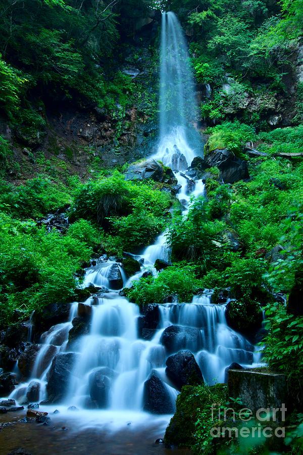 Waterfall Photograph - Beautiful Waterfalls In Karuizawa Japan by Beverly Claire Kaiya