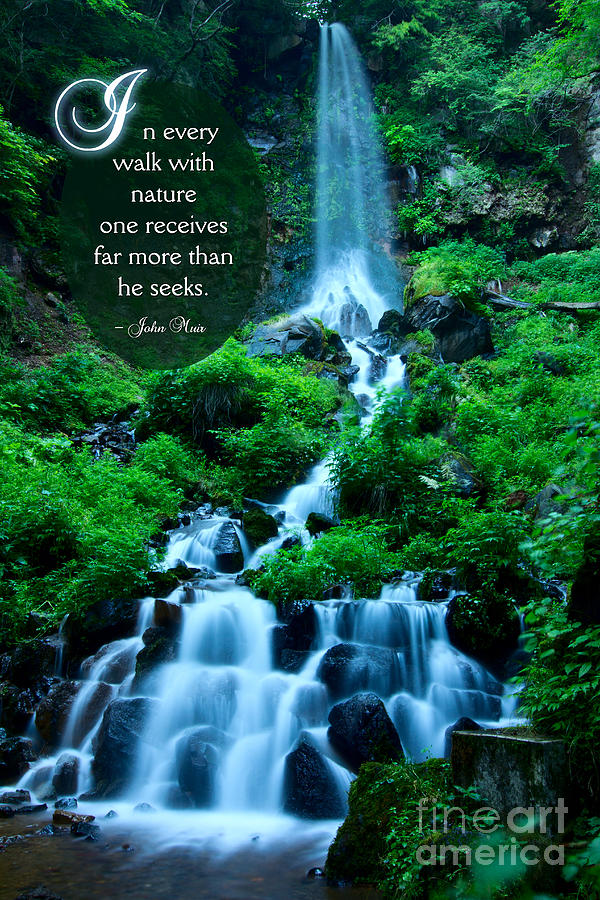 In Every Walk With Nature Photograph - Beautiful Waterfalls Through A Walk With Nature by Beverly Claire Kaiya
