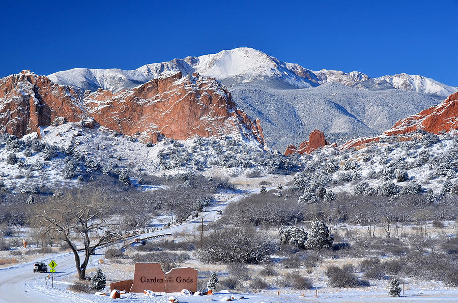 Beautiful Winter Garden Of The Gods Photograph By John Hoffman