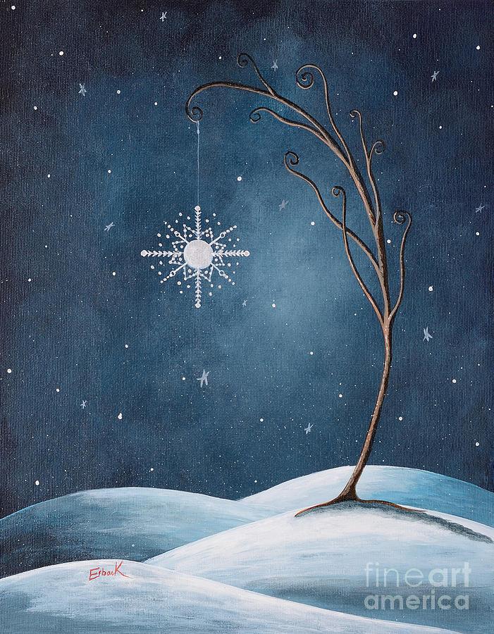 Winter Painting - Beautiful Winterland By Shawna Erback by Erback Art