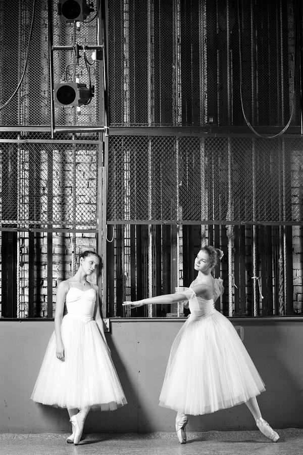 Artist Photograph - Beautiful Young Ballet Dancers In Rehearsal by Ilya Lokalin