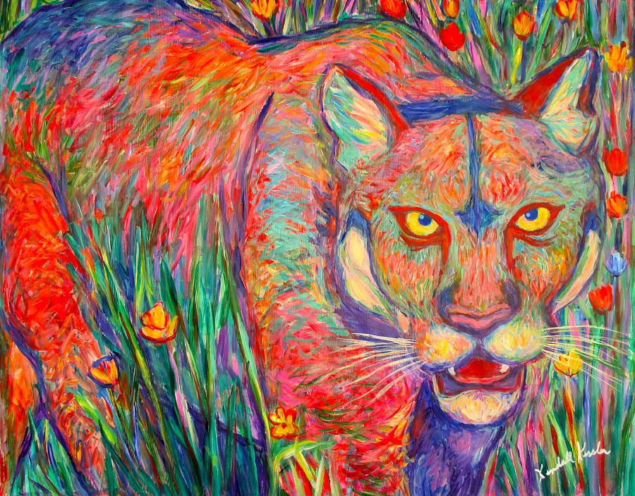 Cougar Painting - Beauty And Danger by Kendall Kessler