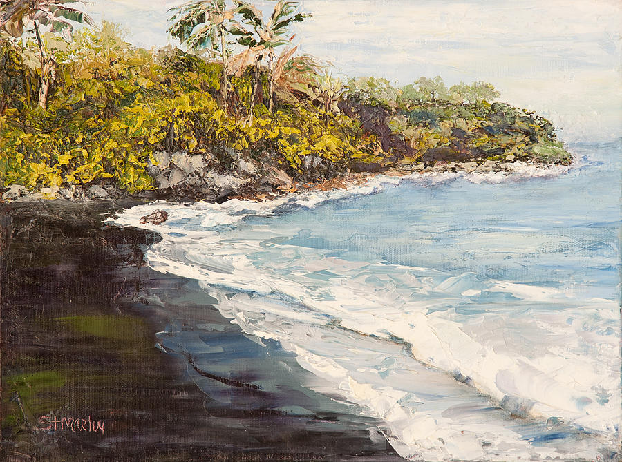 Hawaii Painting - Beauty And The Beach by Annie St Martin