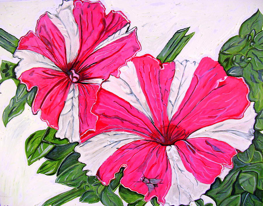 Flower Painting - Beauty And The Fly by Karunita Kapoor