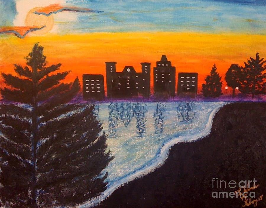 Dawn Painting - Beauty At Dawn by Lewanda Laboy