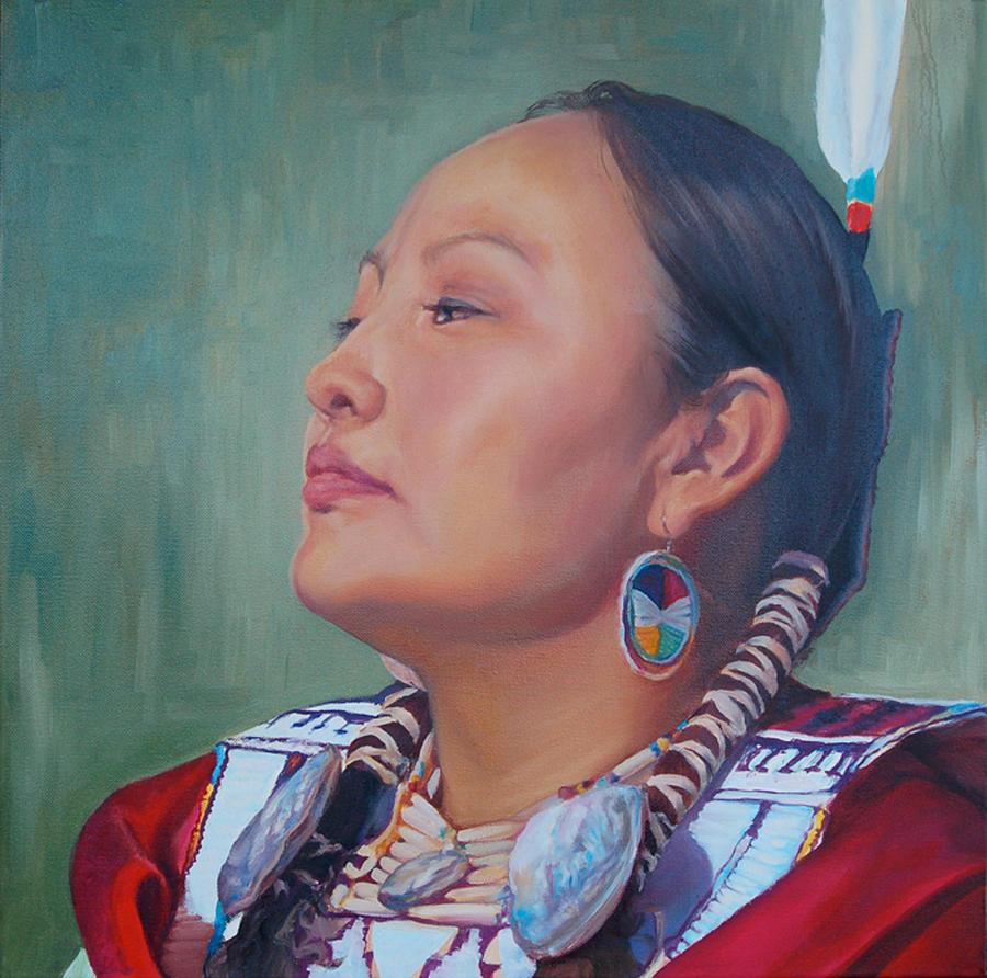 Native American Painting - Beauty by Christine Lytwynczuk