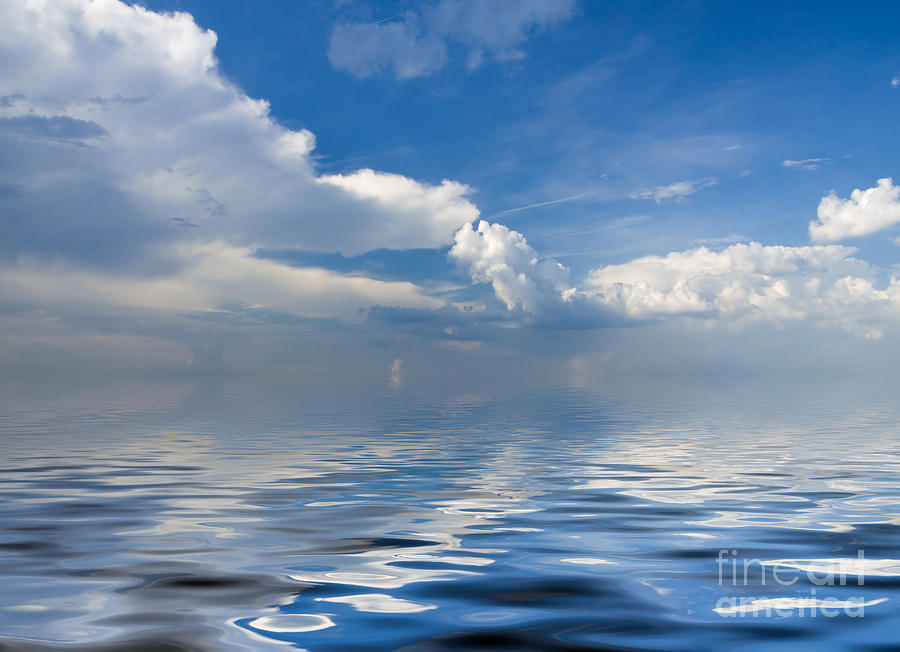 Beauty  Photograph - beauty Clouds over Sea by Boon Mee