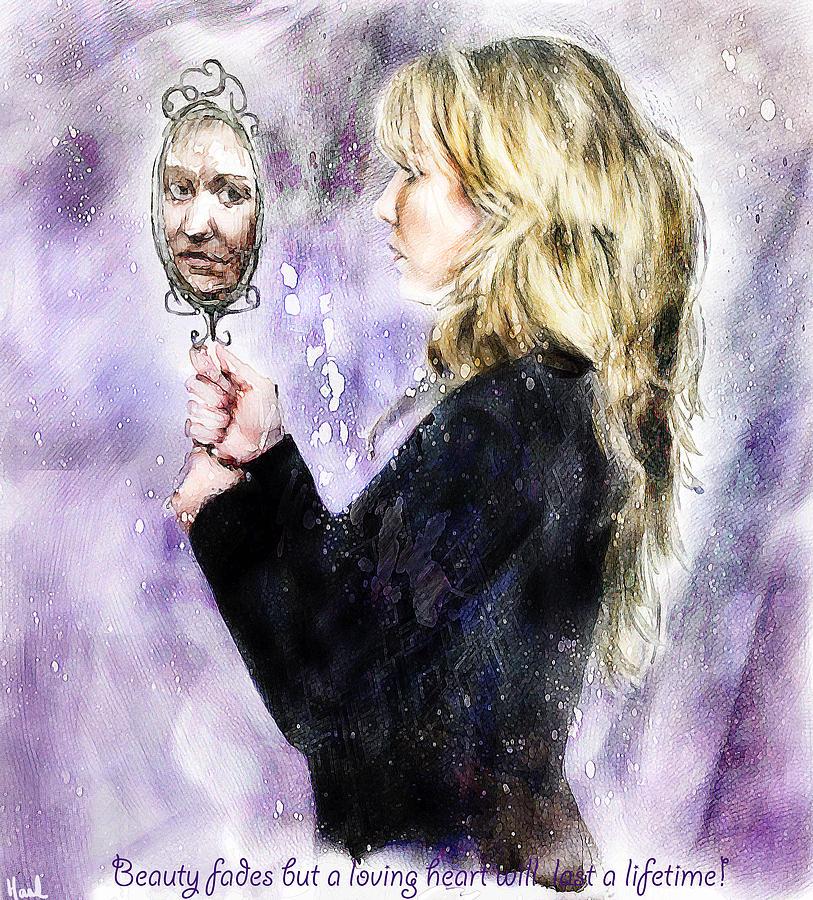 Beauty Digital Art - Beauty Fades by Hazel Billingsley