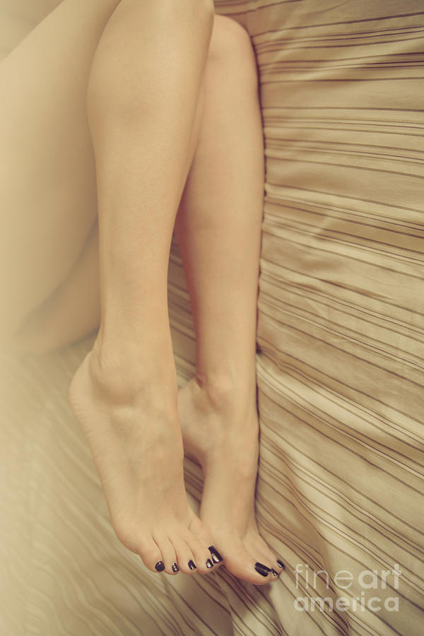 Feet Photograph - Beauty In Her Feet by Tos