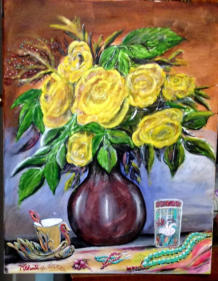 Floral Painting - Beauty In Yellow by M Bhatt