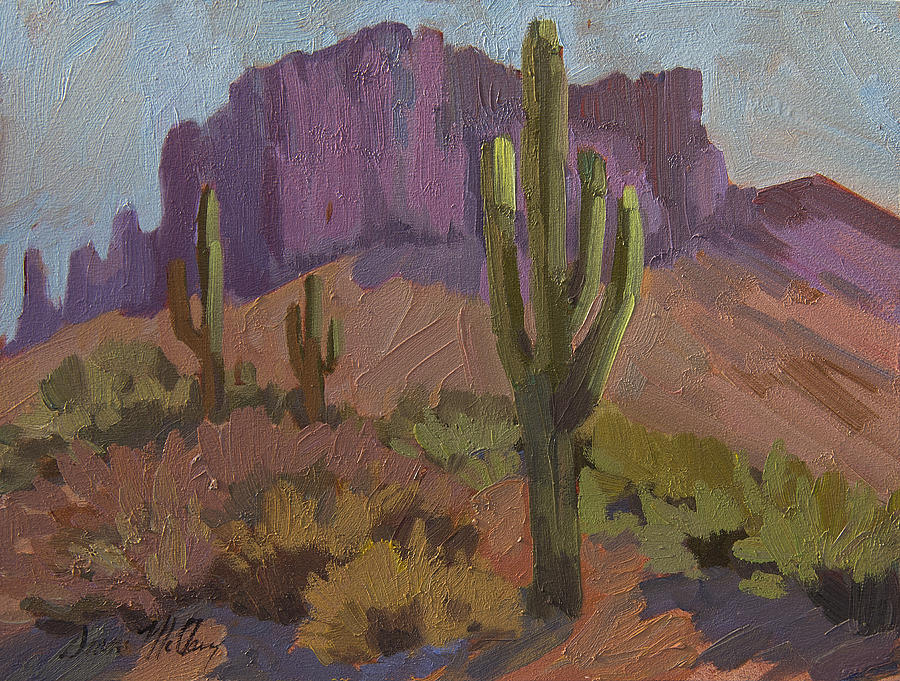 Saguaro Cactus Painting - Beauty Of The Desert by Diane McClary