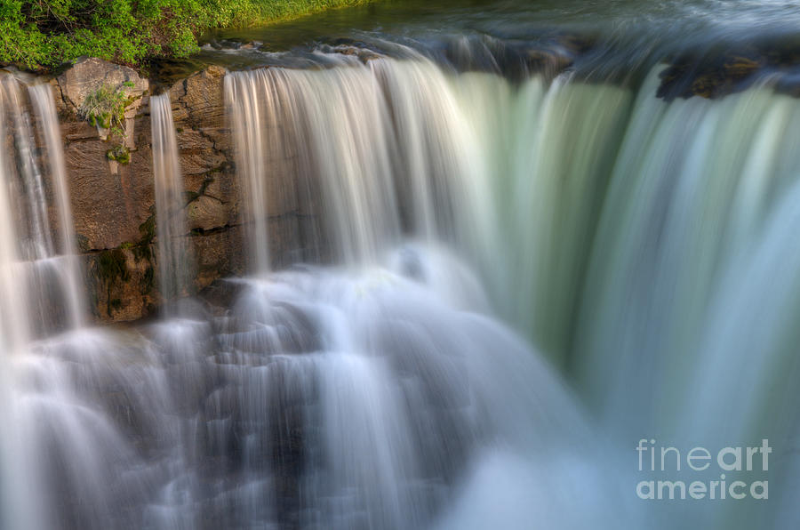 Lundbreck Falls Photograph - Beauty Of Water by Bob Christopher
