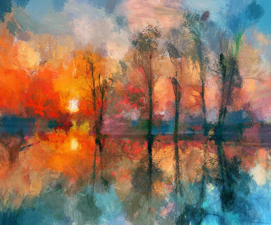 Simple Digital Art - Beauty Sunset by Yury Malkov