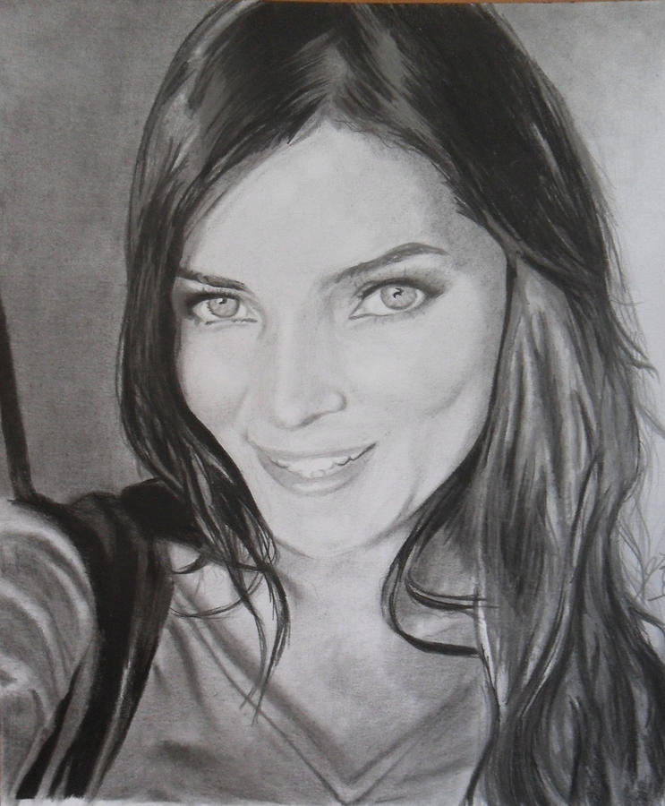 Beautiful Drawing - Beautyful by Luis Carlos A
